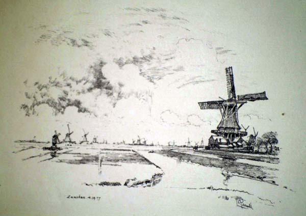 Joseph PENNELL (Stati Uniti, 1858 – 1926) – ZAANDAM