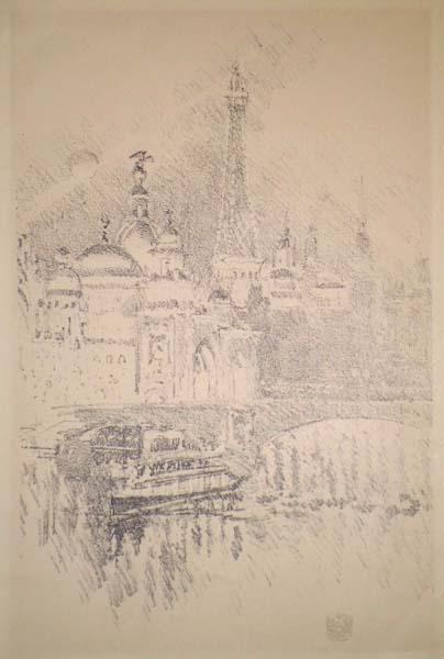 Joseph PENNELL (Stati Uniti, 1858 – 1926) – LA SENNA A PARIGI