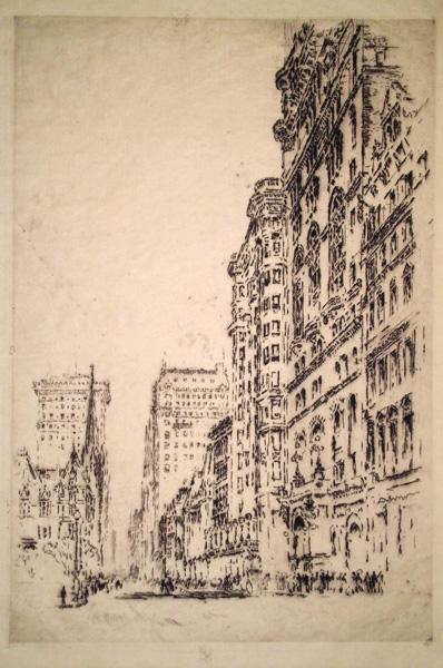 Joseph PENNELL (Stati Uniti, 1858 – 1926) – SAINT THOMAS AND SAINT REGIS (1904)
