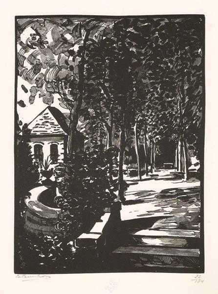 Jules Léon PERRICHON (Francia, 1866 – 1946) – LA TERASSE DU PAVILLON GUSTAVE FLAUBERT
