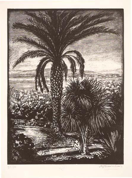 Jules Léon PERRICHON (Francia, 1866 – 1946) – LA CALIFORNIE À CANNES