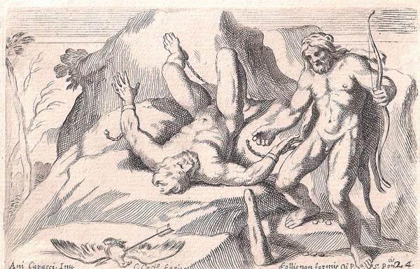 Carlo CESIO (Antrodoco, 1625 – 1686) – ERCOLE LIBERA PROMETEO