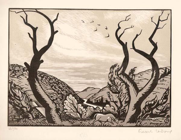 Charles Alexandre PICART LEDOUX (Francia, 1881 – 1959) – LES ARBRES MORTS