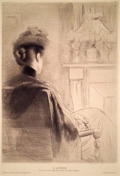 Rodolphe PIGUET (Svizzera, 1840 – 1915) – L'ATTENTE