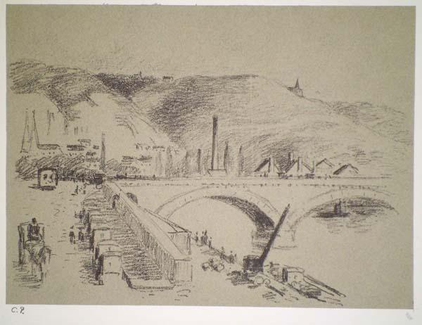 Camille PISSARRO (Francia, 1830 – 1903) – PONT CORNEILLE À ROUEN (1896)