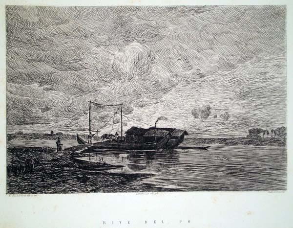 Ernesto POCHINTESTA (Stradella, 1840 – 1891) – RIVE DEL PO