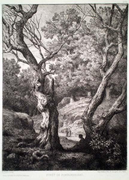 Antoine-Claud CINIER (Francia, 1812 – 1885) – FORÊT DE FONTAINEBLEAU