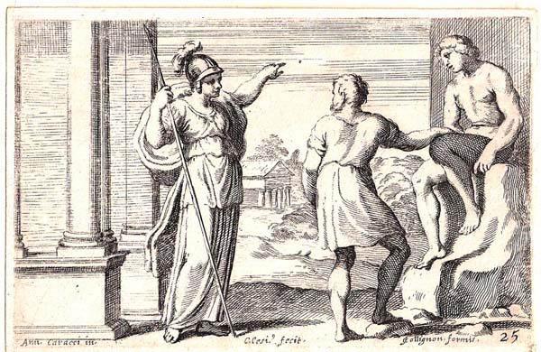 Carlo CESIO (Antrodoco, 1625 – 1686) – MINERVA INSEGNA A PROMETEO COME ANIMARE LA STATUA CHE HA CREATO