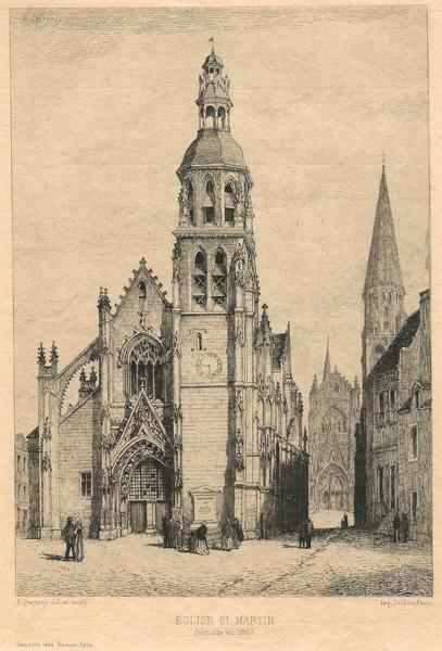 Armand QUEYROY (Francia, 1830 – 1893) – EGLISE ST MARTIN