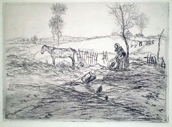 Jean-François RAFFAELLI (Francia, 1850 – 1924) – TERRAIN PERDU (1894)