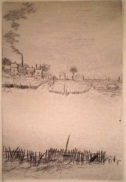 Jean-François RAFFAELLI (Francia, 1850 – 1924) – LA NEIGE, SOLEIL COUCHANT (1907)