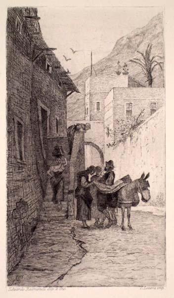 Edoardo RAIMONDI (Parma, 1837 – 1919) – IL MERCIAIUOLO DI CHIAVARI