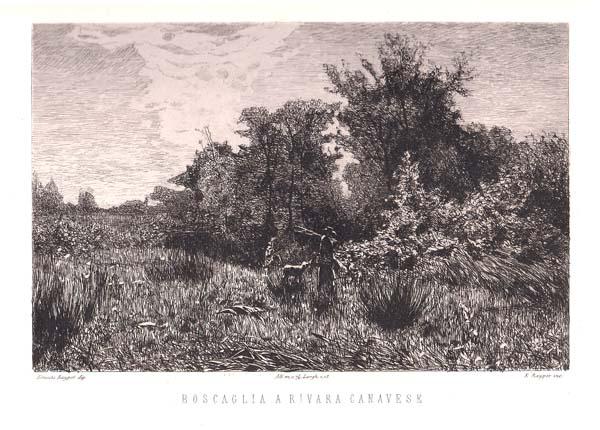 Ernesto RAYPER (Genova, 1840 – 1873) – BOSCAGLIA A RIVARA CANAVESE