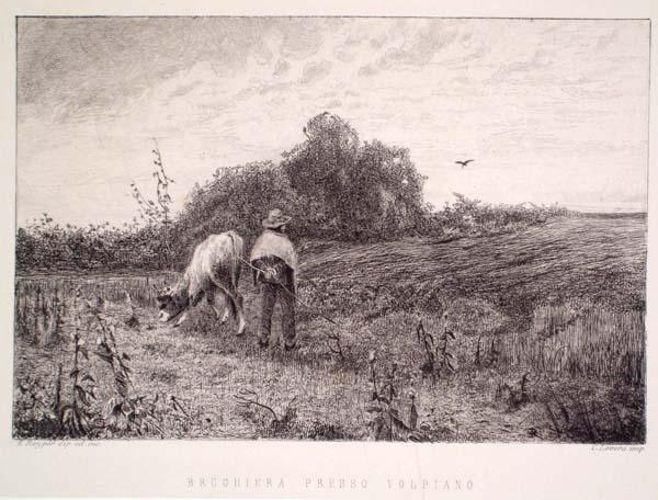 Ernesto RAYPER (Genova, 1840 – 1873) – BRUGHIERA PRESSO VOLPIANO