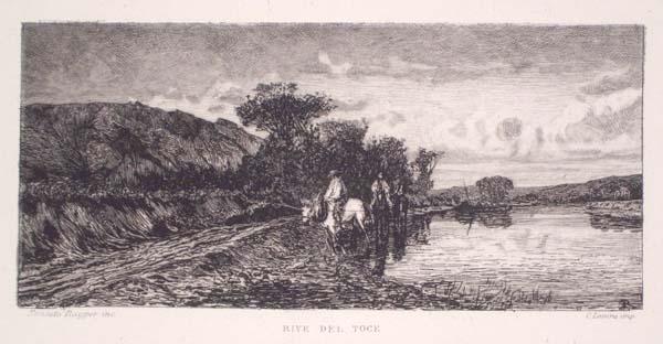 Ernesto RAYPER (Genova, 1840 – 1873) – RIVE DEL TOCE