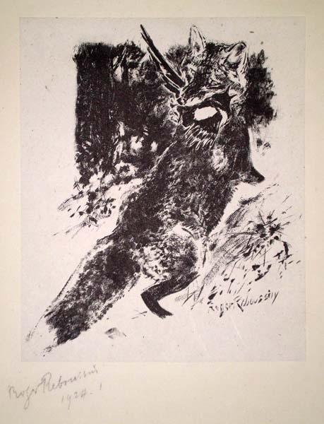 Roger REBOUSSIN (Francia, 1881 – 1965) – RENARD CHASSANT (1924)