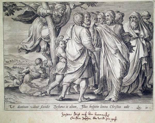 Hans COLLAERT (Fiandre, 1530 – 1581) – UT DOMINUM VIDEAT SCANDIT