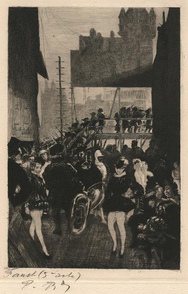Charles Paul RENOUARD (Francia, 1845 – 1924) – FAUST (5eme ACTE)