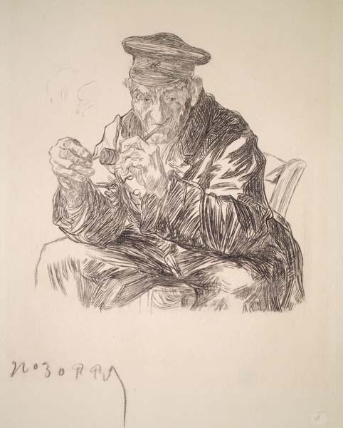 Charles Paul RENOUARD (Francia, 1845 – 1924) – LE CHARPENTIER EN RETRAITE