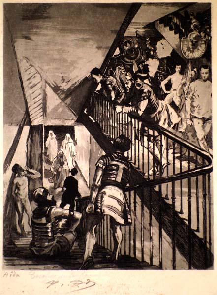 Charles Paul RENOUARD (Francia, 1845 – 1924) – AIDA. ESCALIERS DE LA FIGURATION