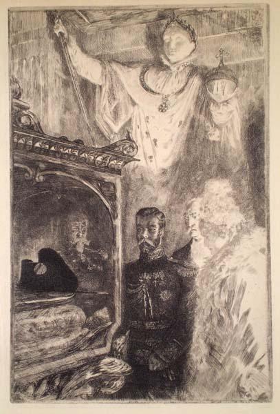 """Charles Paul RENOUARD (Francia, 1845 – 1924) – VISITE DE NICOLAS II AU """"RELIQUAIRE"""" DES INVALIDES"""