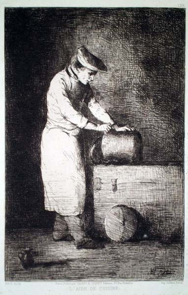 Théodule RIBOT (Francia, 1823 – 1891) – L'AIDE DE CUISINE