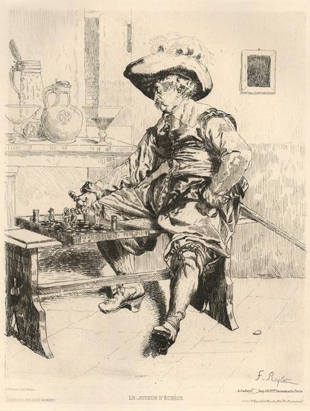 Ferdinand ROYBET (Francia, 1840 – 1920) – LE JOUEUR D'ECHECS
