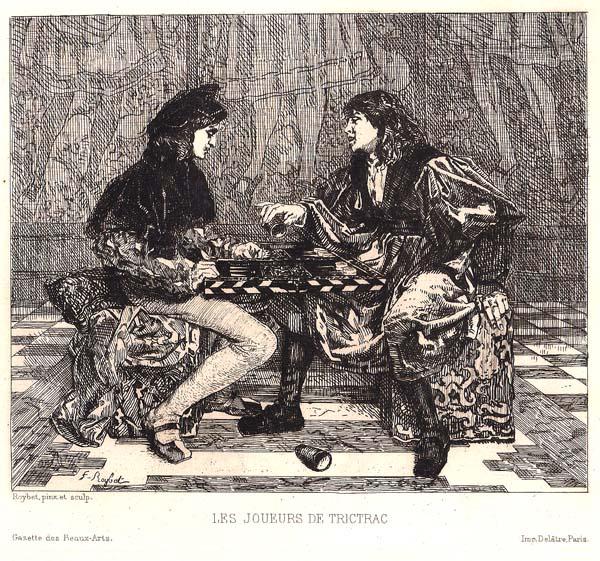 Ferdinand ROYBET (Francia, 1840 – 1920) – LES JOUEURS DE TRICTRAC