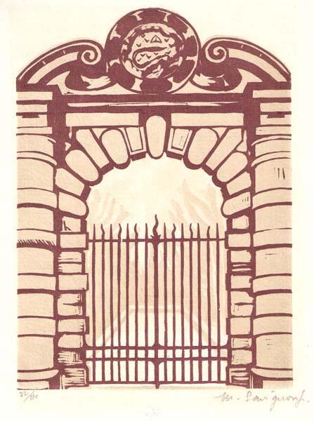 M. SAVIGNON (Francia, inizi XX secolo) – UNE PORTE FRANCOIS PREMIER À FONTAINEBLEAU