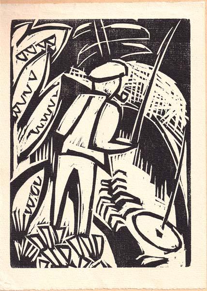 Karl SCHMIDT-ROTTLUFF (Germania, 1884 – 1976) – DER ANGLER (1923)