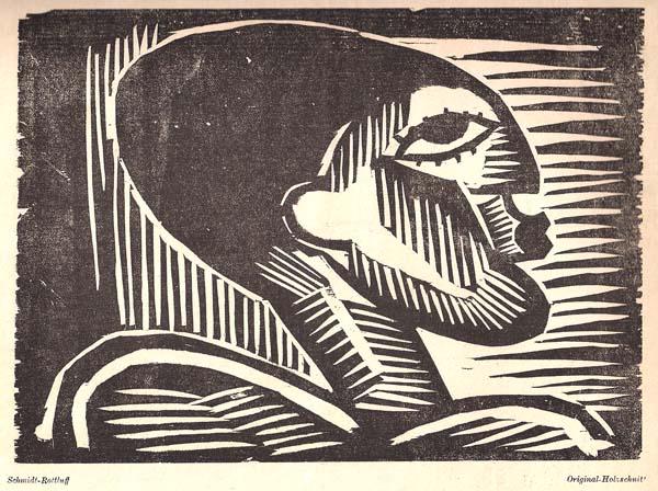 Karl SCHMIDT-ROTTLUFF (Germania, 1884 – 1976) – KOPF (1917)