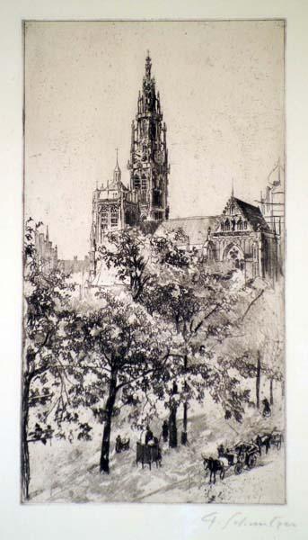 Ferdinand SCHMUTZER (Austria, 1870 – 1928) – ANTWERP (1915)