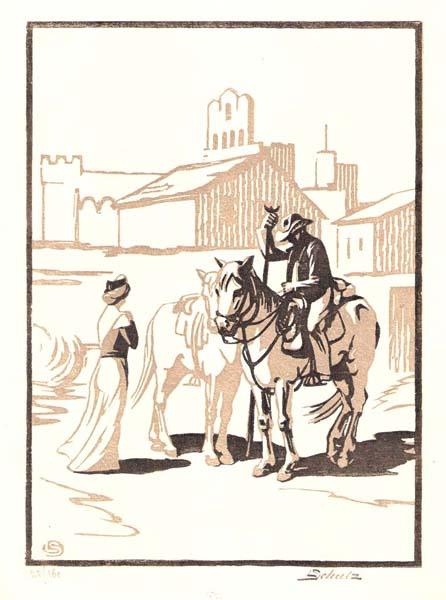 Léon SCHULTZ (Francia, 1872 – 1969) – APRES LA FERRADE