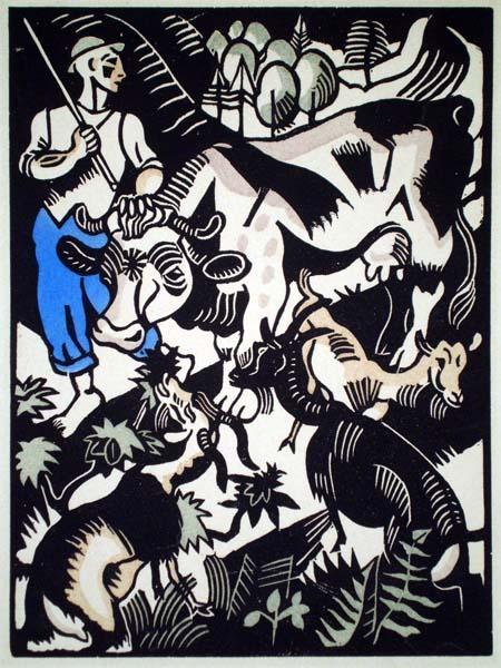 Richard SEEWALD (Germania, 1889 – 1976) – DER HIRTE (1918)