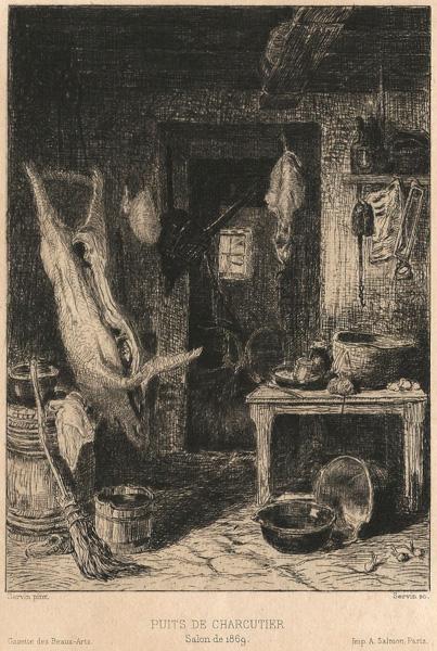 Amedée Elie SERVIN (Francia, 1828 – 1885 circa) – PUITS DE CHARCUTIER