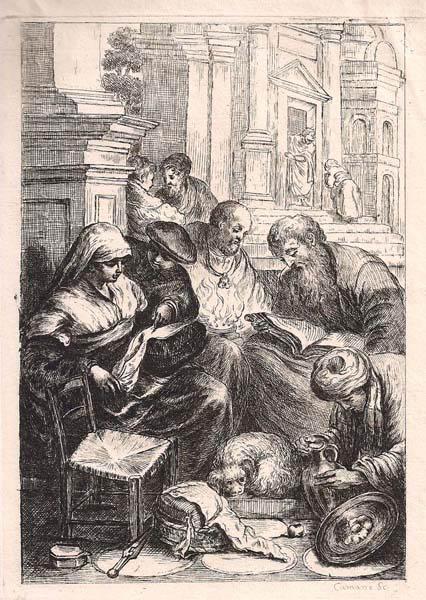Costantino CUMANO (attivo a Venezia, morto intorno al 1805) – DAVANTI AL TEMPIO da Bassano