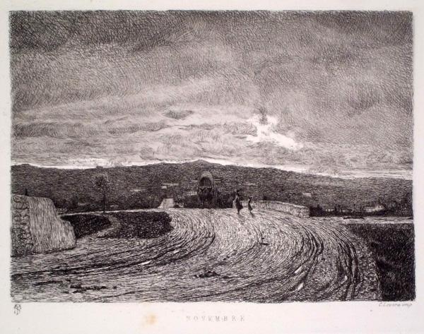 Telemaco SIGNORINI (Firenze, 1835 – 1901) – NOVEMBRE