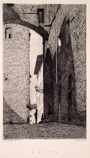Telemaco SIGNORINI (Firenze, 1835 – 1901) – A PISTOIA (1872)