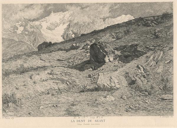 Oreste SILVESTRI (Pollone, 1858 – 1937) – LA DENT DU GEANT da C. Follini