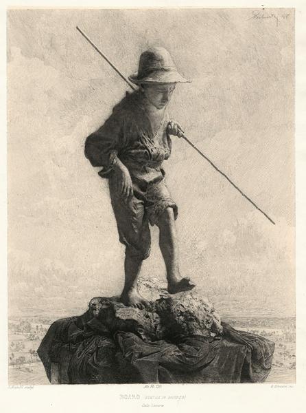 Oreste SILVESTRI (Pollone, 1858 – 1937) – BOARO da Bistolfi