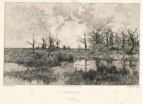 Oreste SILVESTRI (Pollone, 1858 – 1937) – TRISTEZZA da Faccioli