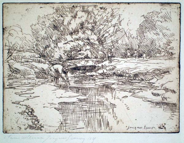 Jacques SIMON (Francia, 1875 – 1945) – IN RIVA AL FIUME