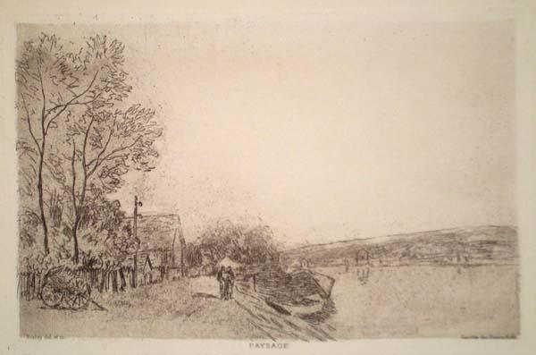 Alphred SISLEY (Francia, 1839 – 1899) – BORDS DU LOING: LA CHARETTE