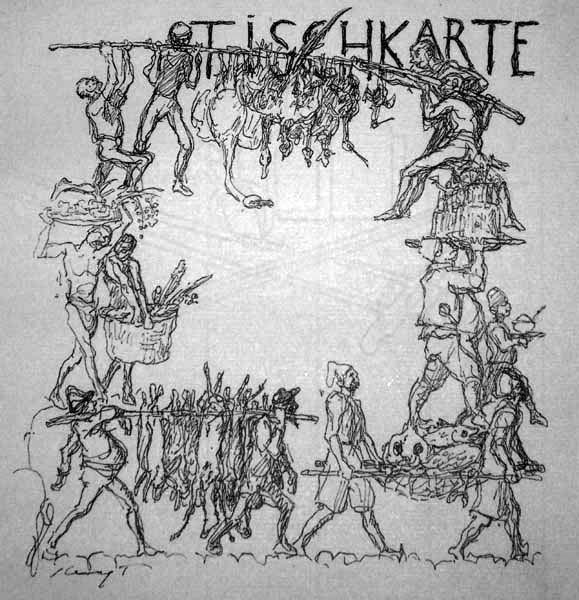 Max SLEVOGT (Germania, 1868 – 1932) – TISCHKARTE