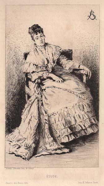 Alfred STEVENS (Belgio, 1823 – 1906) – ETUDE