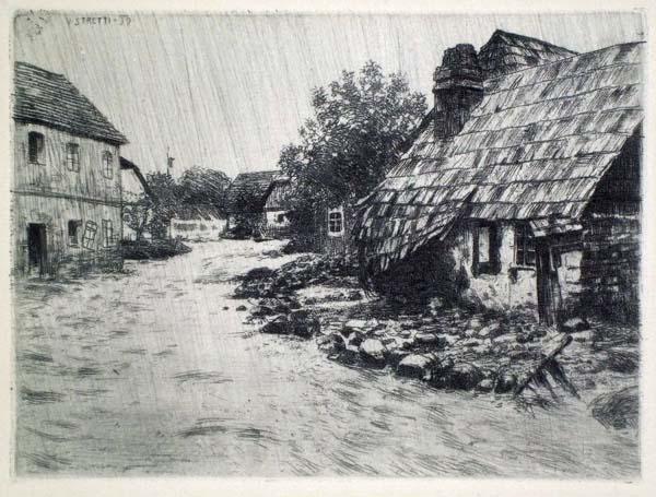 Viktor STRETTI (Cecoslovacchia, 1878 – 1957) – UBERSCHWEMMUNG (1899)