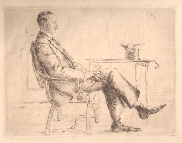 Hermann STRUCK (Germania, 1876 – 1957) – RITRATTO DI FELIX POPPENBERG? (1909)