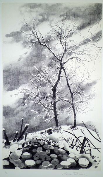 Teresita TERRENO (Dogliani, 1950) – ALBERI SOTTO LA NEVE