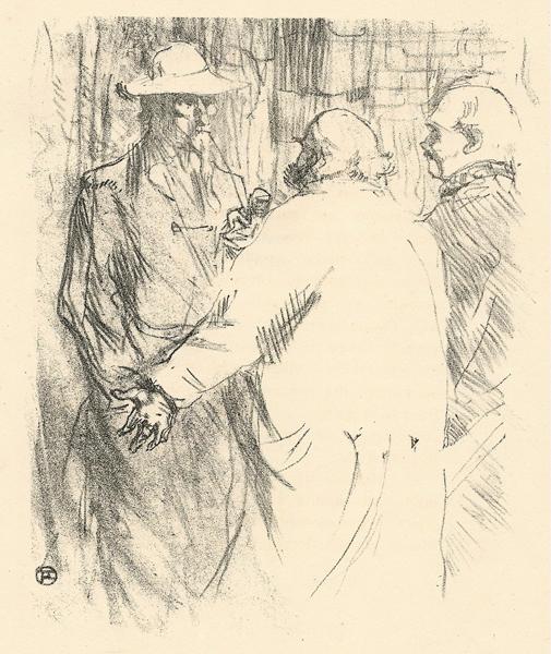 CLEMENCEAU A' BUSK (1864) – de TOULOUSE-LAUTREC Henri