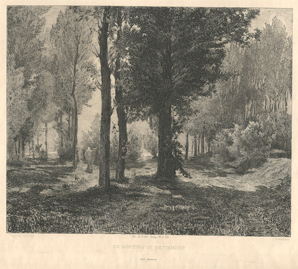 Celestino TURLETTI (Torino, 1845 – 1904) – UN MATTINO DI SETTEMBRE da Pugliese Levi